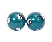 Chinese exercise balls. Separated ob white background Stock Photos