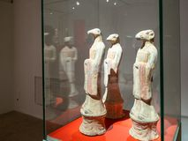 Chinese exhibition in room of Pushkin State Museum stock photo