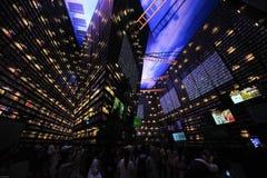 Chinese Expo 2010 het Paviljoen van de stadsmensen van Shanghai Royalty-vrije Stock Foto's