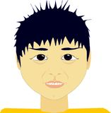 Chinese expression. Chinese or Asian boy with chipped teeth Royalty Free Stock Photo