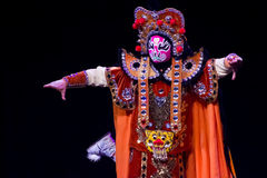 Chinese Face-changing performances. Spring Festival 2013 Royalty Free Stock Image