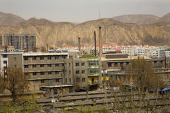 Chinese Factory Apartments Gansu, China Stock Image