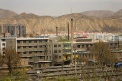 Chinese Factory Apartments Gansu, China Stock Image