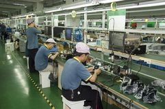 Chinese factory for CCTV camera Stock Images