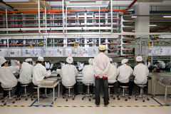 Chinese factory producing Laptop Computers royalty free stock images
