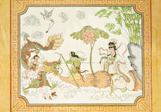 Chinese fairy tale on temple wall Stock Image