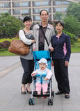 Chinese familie Stock Afbeelding