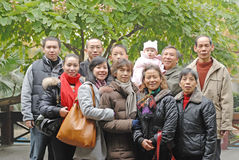Chinese family Royalty Free Stock Photo