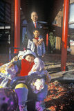 Chinese family pose for the Chinese New Year in Chinatown, Washington, DC Stock Image