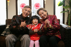 Chinese family reunion in the house Stock Photography