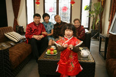 Chinese family reunion in the house Royalty Free Stock Image