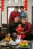 Chinese family reunion in the house Royalty Free Stock Images