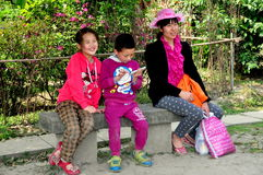 Pengzhou, China: Chinese Family in Park Stock Images