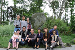 Chinese family in spring Stock Image