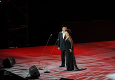 Chinese famous bel canto singer Cheng Zhihe Wang Xiufen-theFamous and classicconcert Royalty Free Stock Photos