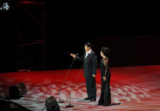 Chinese famous bel canto singer Cheng Zhihe Wang Xiufen-theFamous and classicconcert. The evening of November 8, 2014, known by Karim, Dong Wenhua, Cheng Zhi Stock Photos