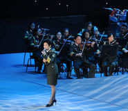 Chinese famous female singer Dong Wenhua-theFamous and classicconcert Stock Image