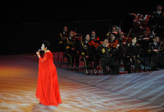 Chinese famous female singer Dong Wenhua-theFamous and classicconcert Royalty Free Stock Photos