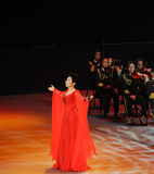 Chinese famous female singer Dong Wenhua-theFamous and classicconcert Royalty Free Stock Images