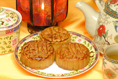 Chinese famous food--Moon cake Royalty Free Stock Photos