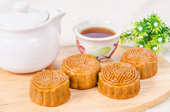 Chinese famous food. Moon cake. Royalty Free Stock Photo