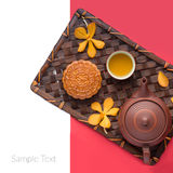 Chinese famous food--Moon cake Stock Image