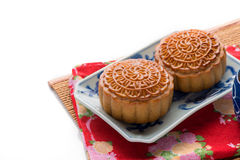 Chinese famous food--Moon cake Royalty Free Stock Image