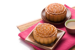 Chinese famous food--Moon cake Royalty Free Stock Images