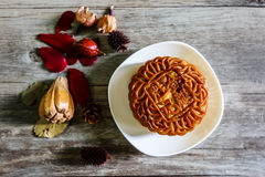 Chinese famous food--wu ren Moon cake Royalty Free Stock Photo