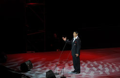 Chinese famous tenor Cheng Zhi-theFamous and classicconcert. The evening of November 8, 2014, known by Karim, Dong Wenhua, Cheng Zhi, Yan Weiwen, Cai Guoqing Stock Image