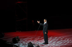 Chinese famous tenor Cheng Zhi-theFamous and classicconcert. The evening of November 8, 2014, known by Karim, Dong Wenhua, Cheng Zhi, Yan Weiwen, Cai Guoqing Stock Images