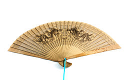 Chinese Fan. Unfolded chinese fan. Isolated on the white Royalty Free Stock Photo