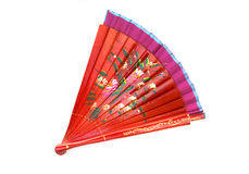 Chinese fan. Chinese red wooden fan on the white Stock Image