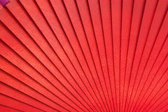 Chinese fan. Chinese red wooden fan on the white Stock Photos
