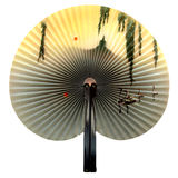 Chinese fan. Isolated over white Stock Images