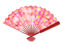 Chinese Fan with Cherry Blossom Flowers Stock Images