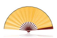Chinese fan (clipping path) royalty free stock image