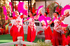 Chinese Fan Dance Stock Image