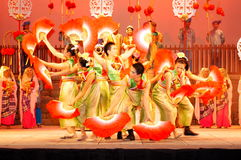 Chinese Fan Dance Royalty Free Stock Photography
