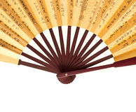 Chinese fan isolated on white background Royalty Free Stock Images