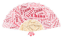 Chinese fan tourism concept Stock Photo