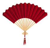 Chinese fan vector on a white background Royalty Free Stock Images