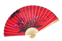 Chinese fan on the white background Stock Photography
