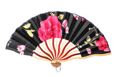 Chinese fan on white Royalty Free Stock Photos