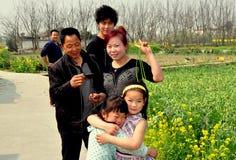 Pengzhou, China: Chinese Farm Family Stock Photography