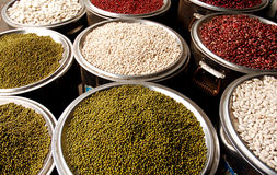 Chinese farm produce. Bean in Sichuan produce market ,west of China Stock Photos