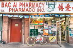 Chinese farmacy in the heart of Chinatown - New York Royalty Free Stock Photos