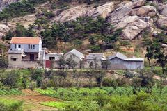 Chinese Farmhouse Royalty Free Stock Photography