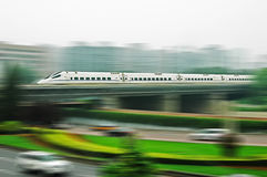 Chinese fast train Royalty Free Stock Images
