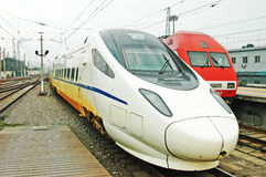Chinese fast train and electric train Stock Photo